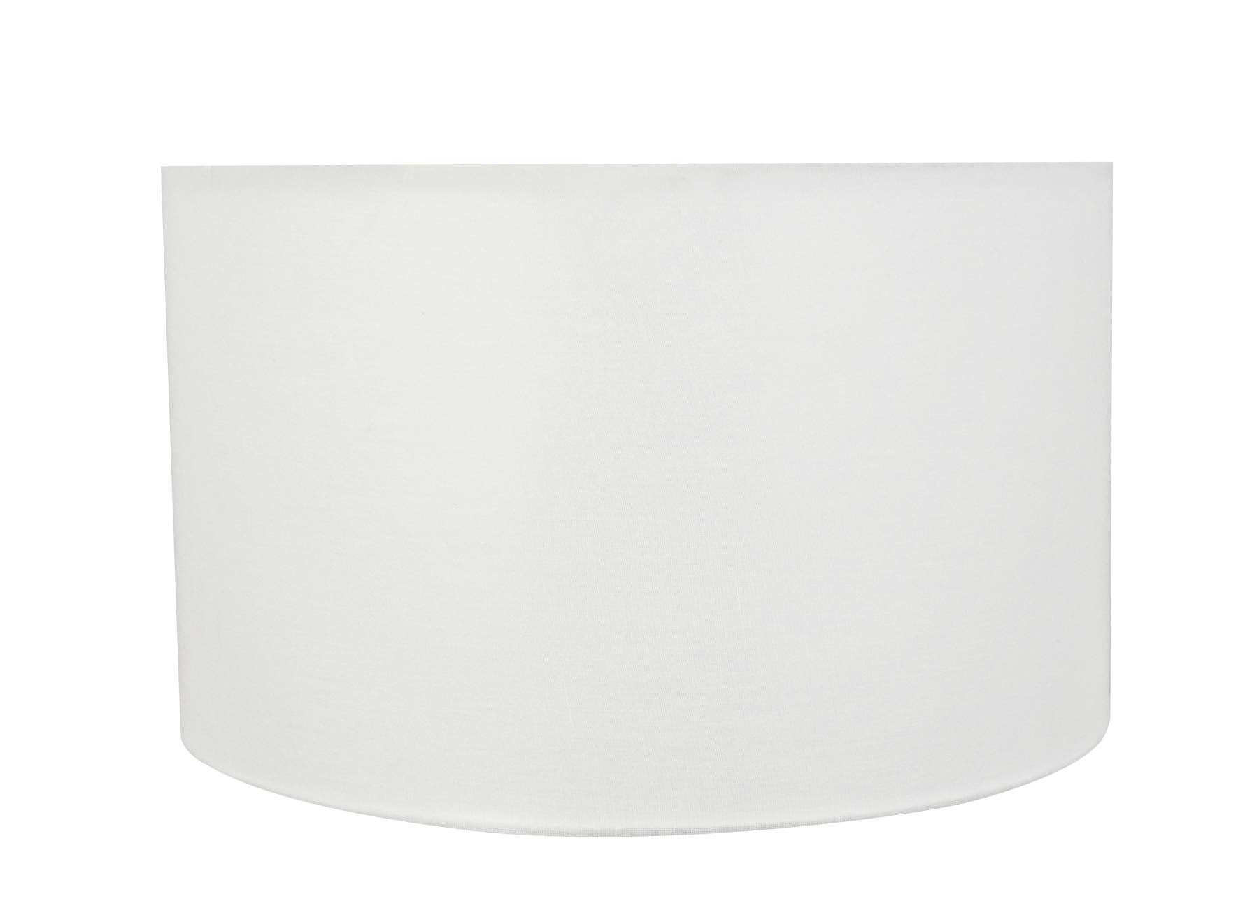 Aspen Creative 58326 Transitional Drum (Cylinder) Shape Construction White, 17'' Wide (17'' x 17'' x 10'') UNO LAMP Shade Off-