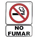 Lica 13 Cartel de No Fumar, color Blanco con negro y rojo, pack of/paquete de 1