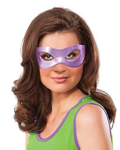 Rubie's Women's Teenage Mutant Ninja Turtles Classic Donatello Eye Mask, Purple, One Size -
