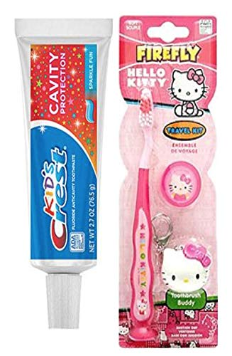 Hello Kitty Toothbrush Keychain, and Crest Kids Flavored Toothpaste ()