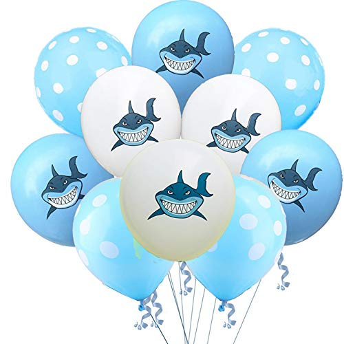 Shark Latex Balloons Cute Round Polka Dot Balloons