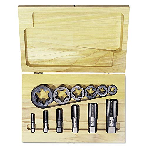 IRWIN Industrial Tools 1920 Tap and Hex Rethreading Die Set, 12-Piece ()