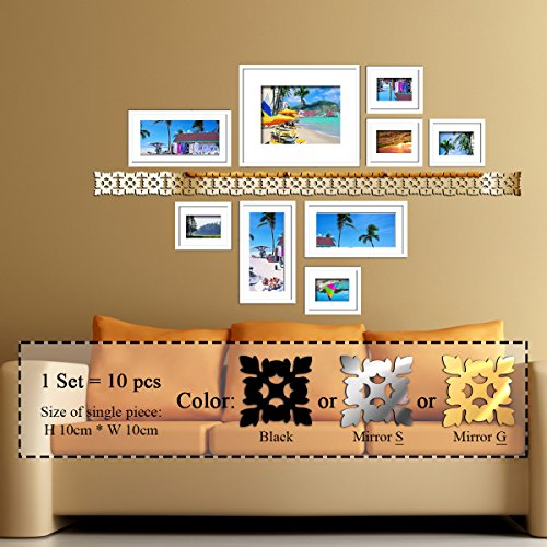 Adorable Fairy & Butterfly Silver Acrylic Mirror Wall Clock Wall Sticker DIY - 6