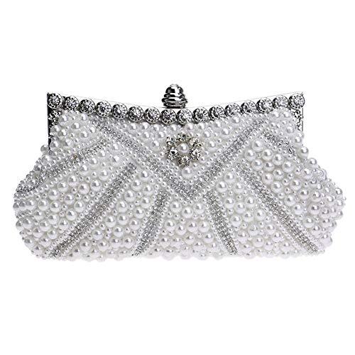 1 femmes blanc embrayages Handbag Evening mode Zanpa Yq45XX