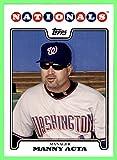 2008 Topps #242 Manny Acta Manager Washington Nationals (77d)