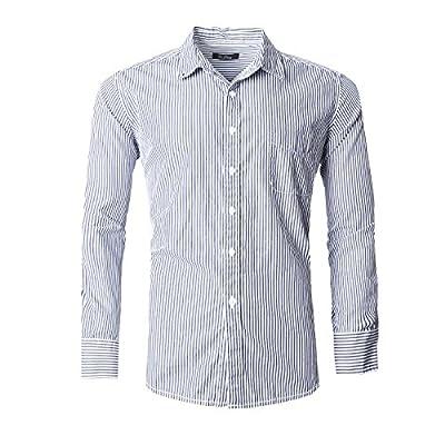GILBETI Men's Button Down Long Sleeve Dress Shirts