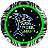 Cheap Neonetics Pool Shark Neon Wall Clock, 15-Inch
