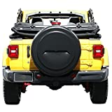 Boomerang - 33'' Rigid JL Tire Cover (Plastic Face & Vinyl Band) for use with 2018-2019 Jeep Wrangler JL Rubicon (with Back-up Camera) - Black Textured