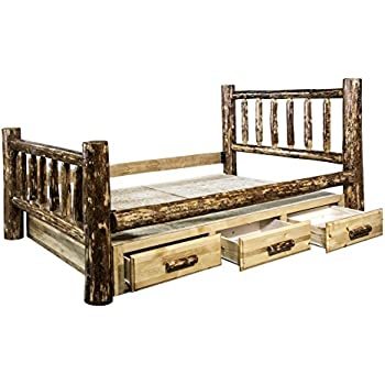Montana Woodworks MWGCSBQ Glacier Country Collection Bed with Storage Queen