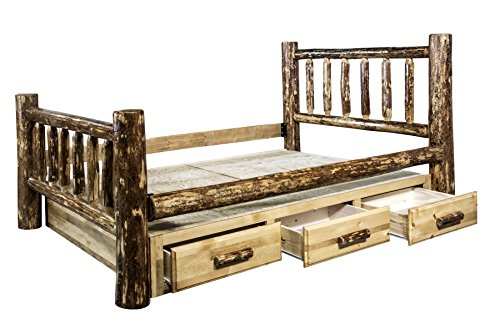 Montana Woodworks MWGCSBK Glacier Country Collection Bed with Storage, King ()