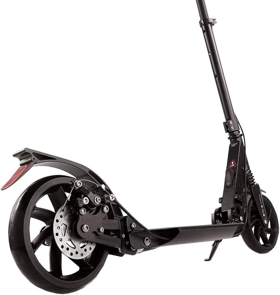 大人用 キックボード 非電気大人スクーター、ディスクブレーキが付いている容易な折る通勤スクーター/大きい車輪/二重懸濁液、サポート220ポンド