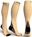 Physix Gear Compression Socks for Men & Women 20-30 mmhg, Best Graduated Athletic