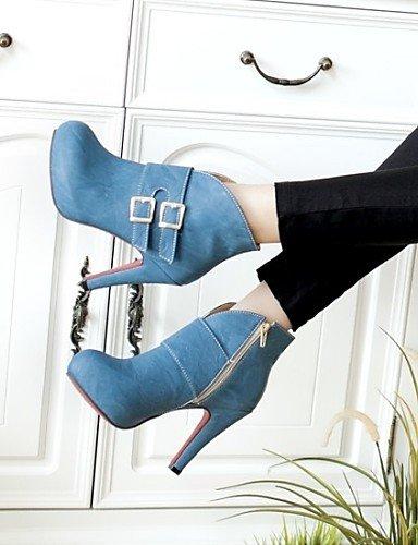 Mujer 5 Redonda us8 5 us8 Azul Blue Uk6 Casual Amarillo Botas Semicuero 5 Tacón Cn40 De Pink Punta Rosa Zapatos Eu39 Vestido Botines Xzz Stiletto Sq0Eaq