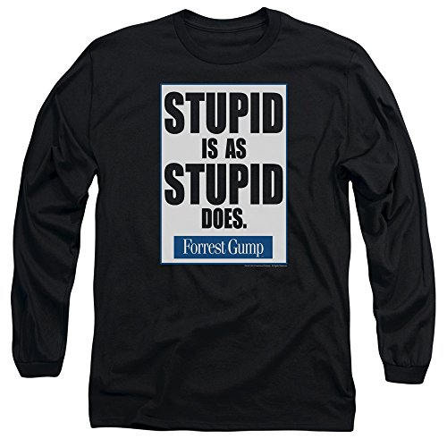 2Bhip Forrest Gump Romance Comedy Drama Movie Stupid Is Adult Long Sleeve T-Shirt -