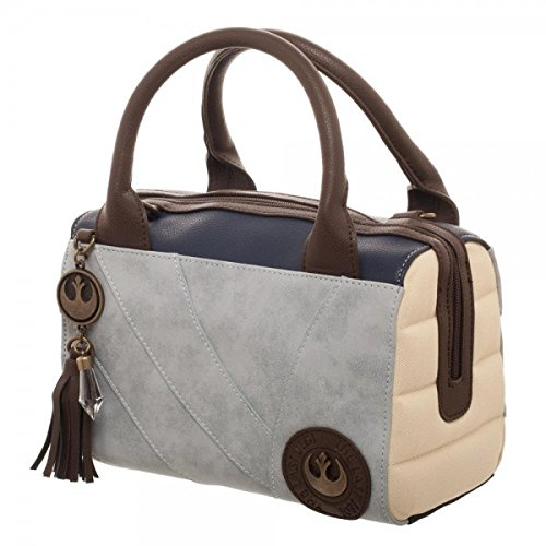 Bioworld Star Wars Rey Canvas and PU Leather Dotty Satchel (Echoes Of Time Costumes)