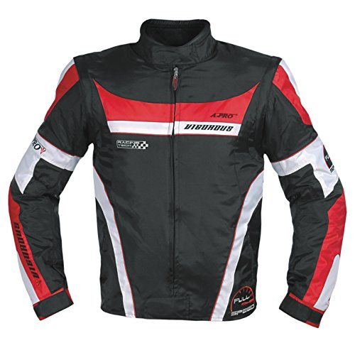 Oxford Jacke Herren Textil CE Protektoren Thermoweste Motorrad Rot L