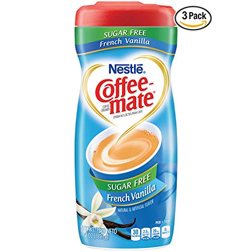 Coffee Mate Coffee Creamer Fat Free French Vanilla, 10.2 Ounce, Pack of 3