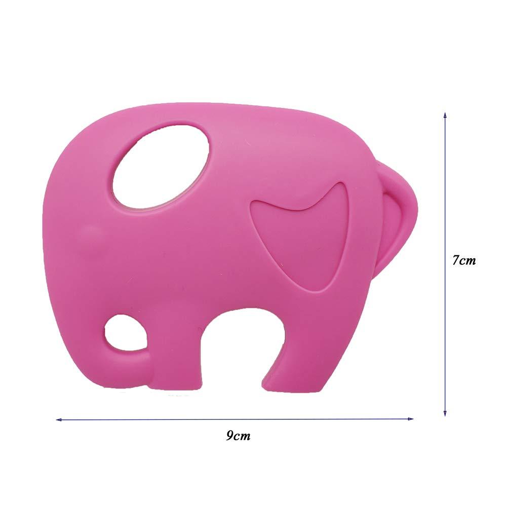 Clip chupete con elefante Mordedor de silicona, dentición ...