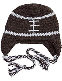Infant, Toddler, Little Kids Crochet Football Beanie Hat - Brown