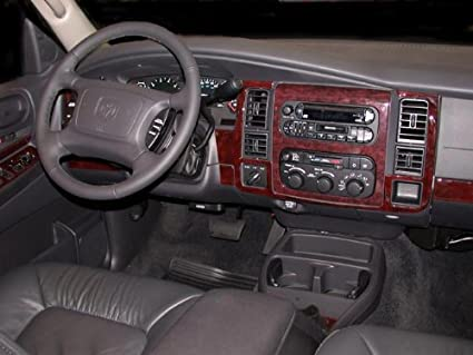 DODGE DURANGO INTERIOR BURL WOOD DASH TRIM KIT SET 2001 2002 2003