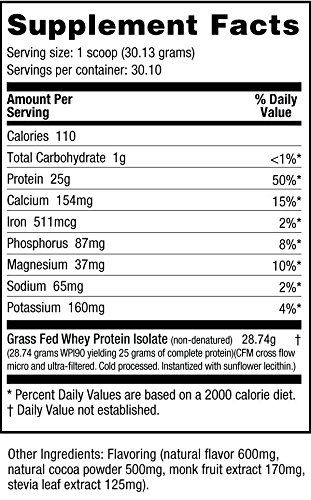 Amazon.com: NutraBio Grass Fed Whey Isolate Protein (Cookies and Cream, 1 Pound): Health & Personal Care