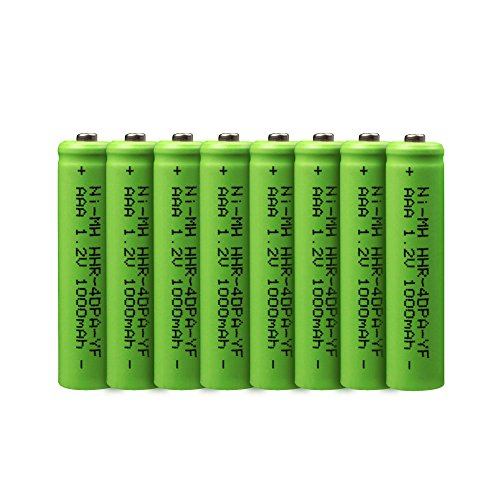 1000 mAh AAA Rechargeable Battery replacement for Panasonic HHR-4DPA/2B Cordless Phone Battery (8 Pack,1.2V,Ni-MH)