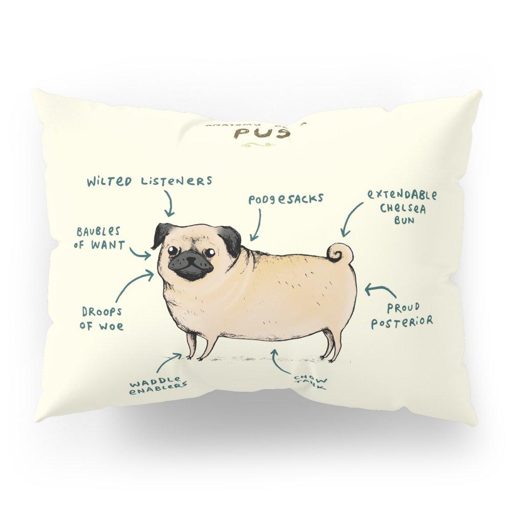 Society6 Anatomy Of A Pug Pillow Sham Standard (20'' x 26'') Set of 2