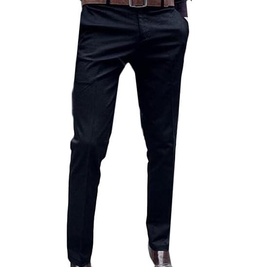 BSTBUWIN Mens Slim Longline Pure Color Blazer Business Slacks Black S 1b23a5eaef94