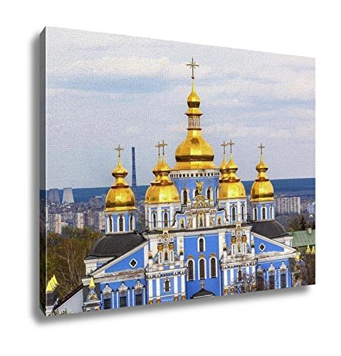 Ashley Canvas, Saint Michael Monastery Cathedral Spires Tower Kiev UKraine, Home Decoration Office, Ready to Hang, 20x25, AG5996044 by Ashley Canvas