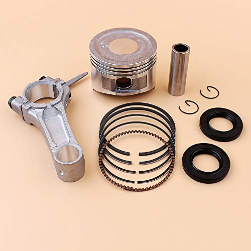 Crank Connecting Rod - Laliva 68mm Piston Rings Connecting Rod Crankshaft Oil Seal Kit For HONDA GX160 GX 160 Chinese 168F 5.5HP Engine Motor Trimmer Mower