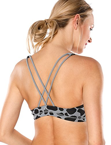 5fcc95cd7d2 CRZ YOGA Women s Light Support Cross Back Wirefree Removable Cups Yoga  Sport Bra Multicoloured  2 M - Buy Online in Oman.