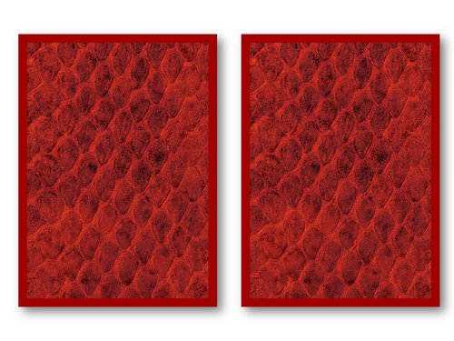 100 Legion Red Dragon Hide Deck Protectors Sleeves MTG Colors Scale by Legion Supplies