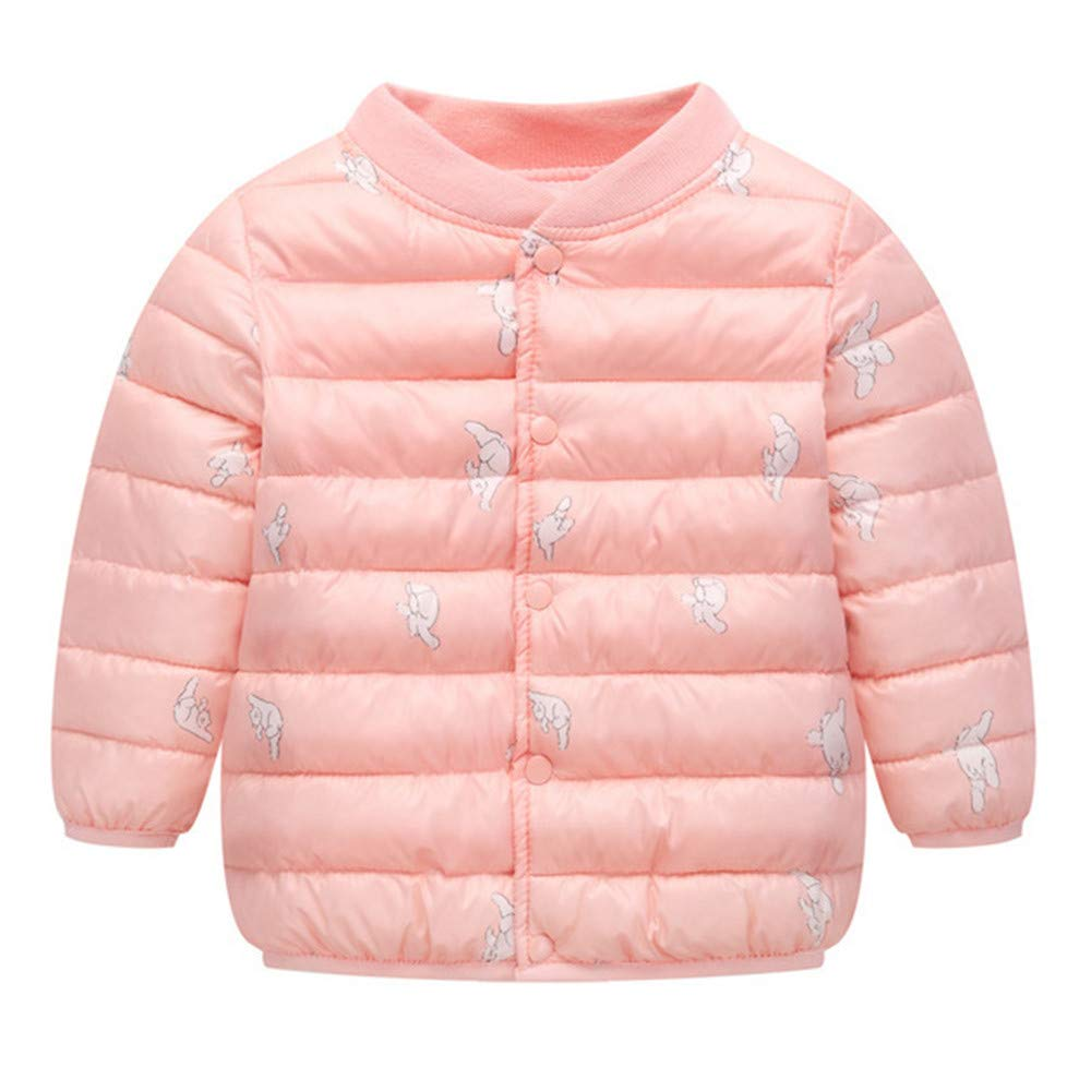 Little Kids Winter Warm Coat,Jchen(TM) Clearance! Kids Baby Girl Boy Winter Cartoon Cat Print Coat Jacket Thick Warm Outerwear Coat for 1-5 Y (Age: 3-4 Years Old, Pink)