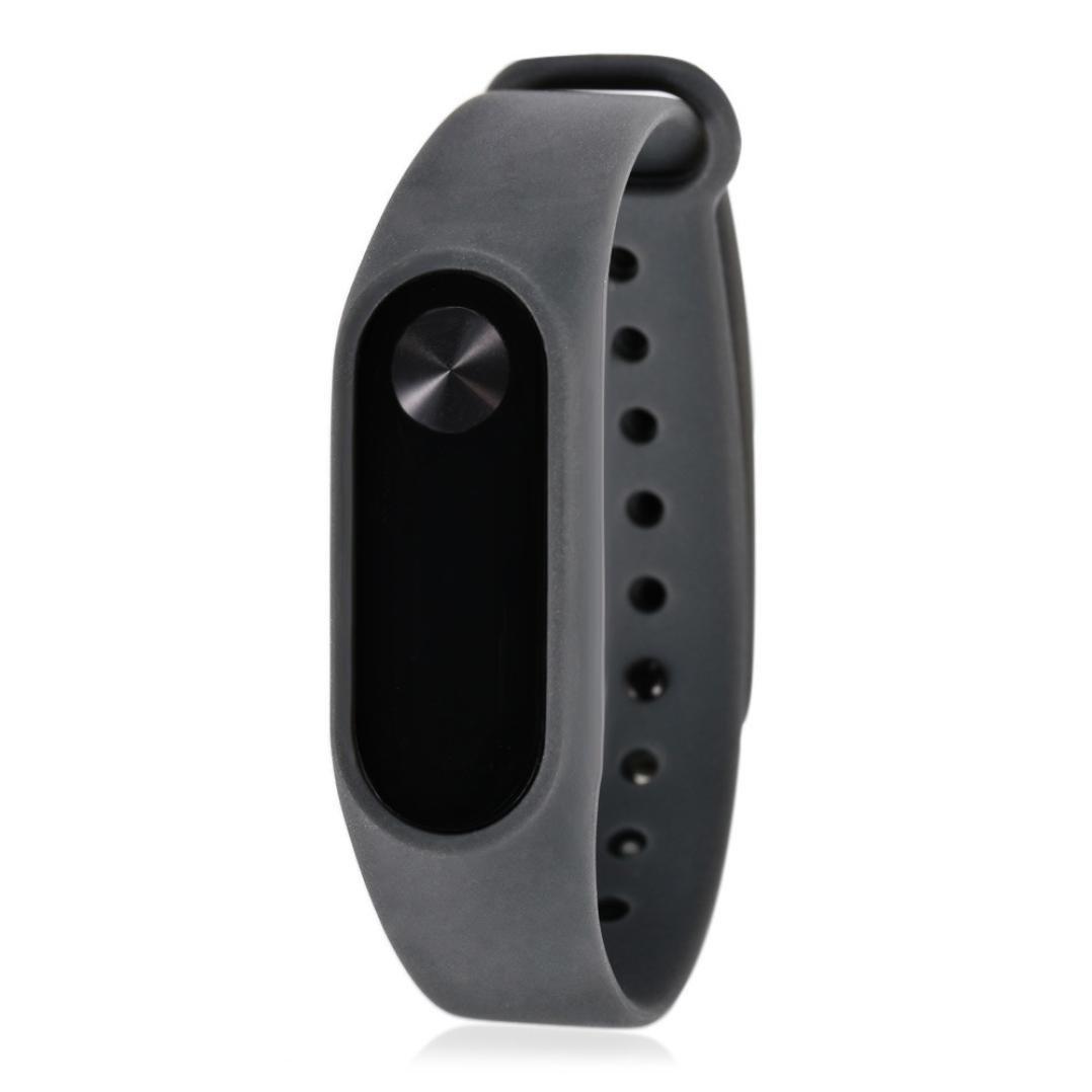 VESNIBA New Soft TPU Original Silicon Wrist Strap WristBand Bracelet Replacement For Xiaomi Mi Band 2 (Gray)