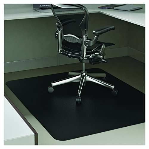 deflecto CM21242BLK EconoMat Anytime Use Chair Mat for Hard Floor 45 x 53 Black Photo #6