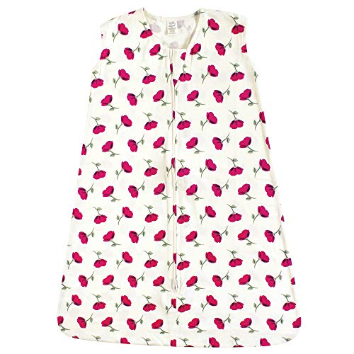 Touched by Nature Organic Cotton Wearable Safe Sleep Printed Sleeping Bag, Petals, 6-12 Months