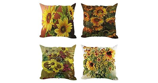 Amazon.com: Alixyz 4 fundas de almohada con diseño de ...