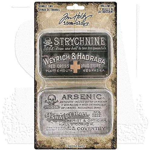 Tim Holtz Halloween Trinket Tins]()
