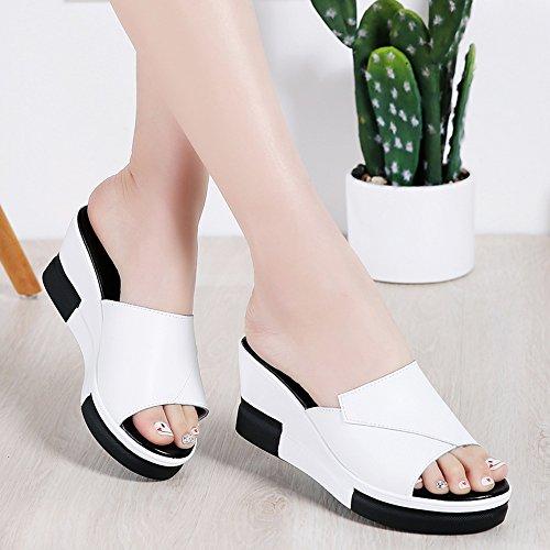 con Summer Mujeres Zapatillas Alto 7 Beach XW Impermeable de para Mujer Holiday Opcionales 2 Mesa 3CM Zapatillas Verano Alta Fashion Seaside Colores de Calidad Zapatos Material 02 Chicas de 5CM Bxpxg