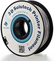 3D Solutech Silver Metal 3D Printer PLA Filament 1.75MM Filament, Dimensional Accuracy +/- 0.03 mm, 2.2 LBS (1