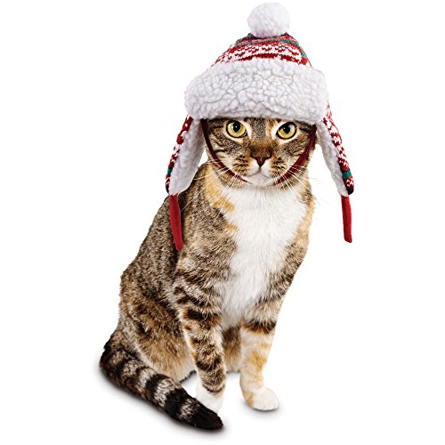 Time for Joy Snow Day Fair Isle Cat Trapper Hat