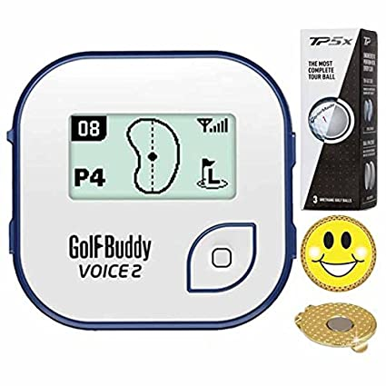 0fca68fcf1b GolfBuddy Voice 2 Golf GPS Rangefinder (40k+ Preloaded Worldwide Courses)  Bundle with 1
