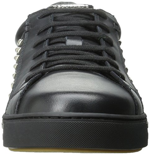 Dsquared2 Heren Tennisclub Studds Fashion Sneaker Zwart
