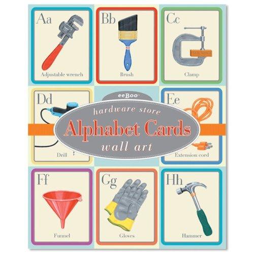 Hardware Store Alphabet Wall (Eeboo Wall Cards)