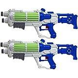 "2 x WHITE Galaxy Wars Trooper 19"" Pump Action Water Pistol Storm Soaker Gun"
