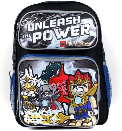 """LEGO Legends of Chima 16"""" Large Backpack Boys School Book Bag- Unleash the Power"""