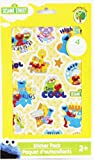 sesame street big hugs elmo - Sesame street Sticker Pack - 4 sheets of assorted stickers ~ Yellow