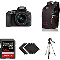 D5600 DX-format Digital SLR w/ AF-P DX NIKKOR 18-55mm f/3.5-5.6G VR & AF-P DX NIKKOR 70-300mm f/4.5-6.3G ED AmazonBasics Starter Bundle