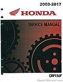 61KPT12 2003-2017 Honda CRF150F Motorcycle Service Manual