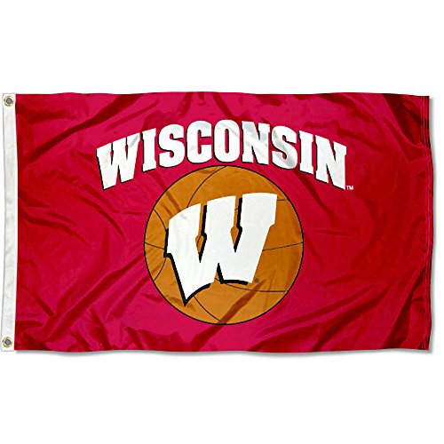 - College Flags and Banners Co. UW Badgers Basketball Flag Large 3x5